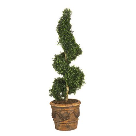 spiral topiaries outdoor 5 foot artificial outdoor polycaise spiral topiary