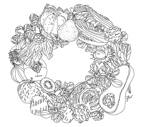 coloring pages for adults vegetables color me seasonal december thefrancofly