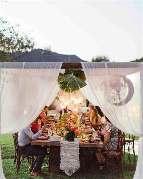 Backyard Anniversary by An Island Inspired Backyard Wedding Anniversary Dinner