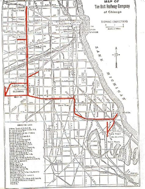 chicago railroad map chicago area shortline railroads belt railway of chicago
