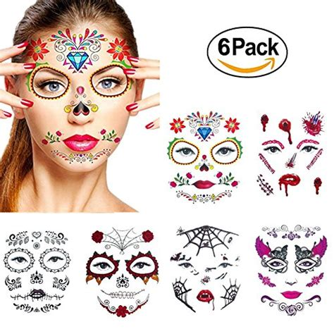 temporary face tattoos halloween faces for halloweenio