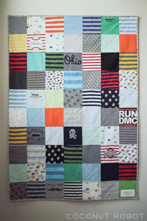 how to make a baby onesie quilt from favorite baby clothes!