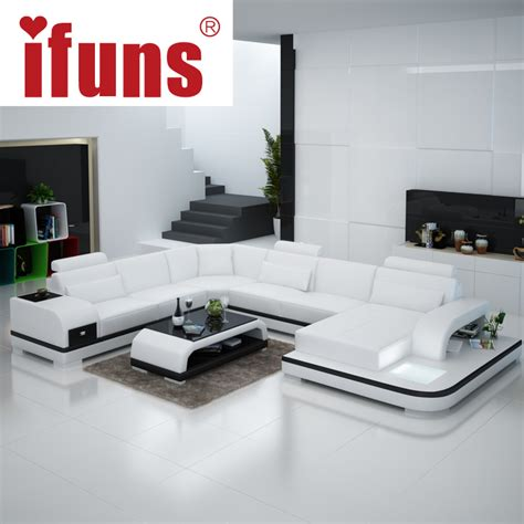 Ifuns Orange And White Customized Color Italian Leather Italian Living Room Furniture Sets