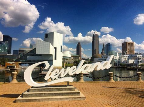 signs of an all three cleveland script signs now installed around city and heard