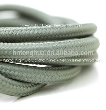 braided power cord cloth covered wire light l cord grip