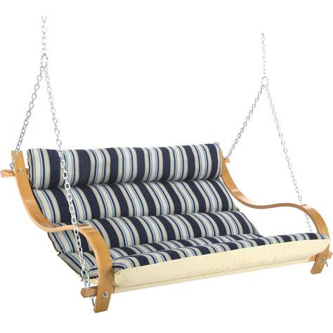 double hammock swing htons summer stripe deluxe cushioned double swing