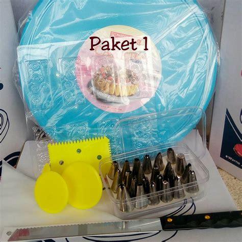 paket dekorasi kue 1 alat hias kue lengkap mejaputar set dekorset meja putar spuit cake tray