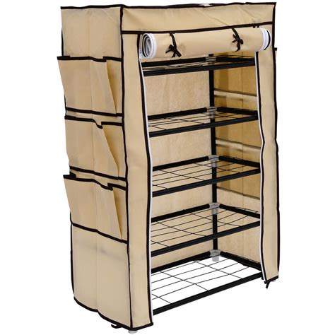 indifferent closet organizer with shoe rack ideas