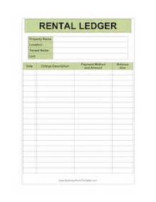 apartment manager individual ledger template