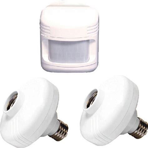 Outdoor Motion Sensing Light Socket Defiant 180 176 White Sensor With Motion Outdoor Light With Adapters Df 6026 Wh B The Home Depot