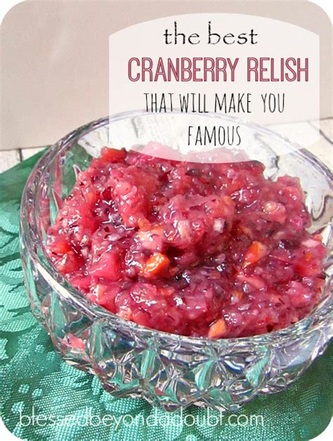 easy cranberry relish recipe it will make you famous