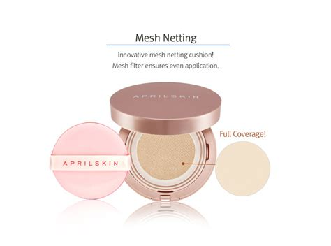 April Skin Magic Snow Fixing Foundation Cushion 22 Pink Beige box korea april skin magic snow fixing foundation 15g best price and fast shipping