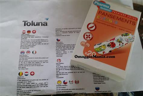 testare prodotti gratis a casa confezione di cerotti per bambini ricevuta da toluna