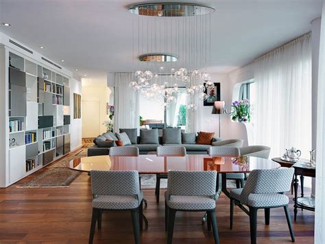 exquisite milan apartment blends living areas with