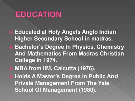 Madras Christian College Mba by Indra Nooyi Ppt