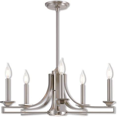 Contemporary Brushed Nickel Chandelier Livex 40055 91 Trumbull Modern Brushed Nickel Mini Chandelier Light Lvx 40055 91