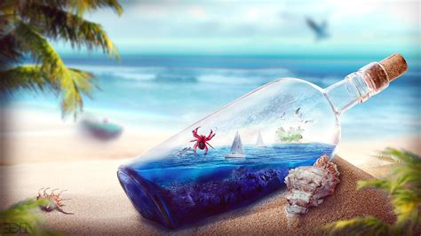 good quality wallpaper for walls worlds in bottles a wallpaper collection hongkiat