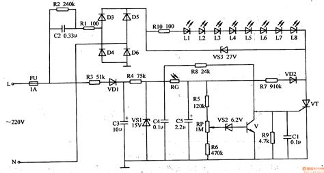 led circuits wiring diagram components