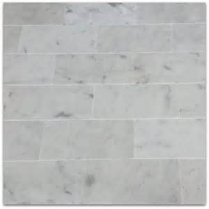 bianco carrara 3x6 subway marble tile polished