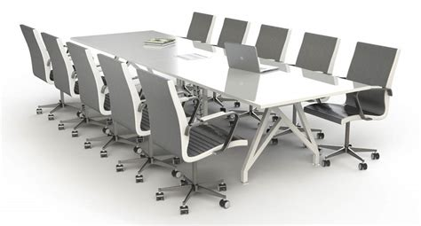 Large White Meeting Table Improve The Style Quotient Of Your Room With The White Conference Table Because Office Also