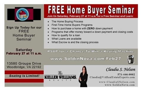 feb 27 free home buyer seminar woodbridge va