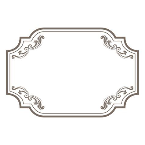 Square Marco Oval moldura retangular ornamentada floral baixar png svg