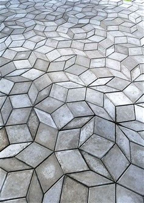 pattern block tiles cement tile pavers outdoor deck patio pinterest cool