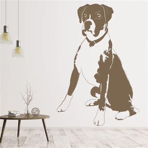 boxer dog wall art dog wall sticker
