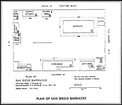 mission san diego de alcala floor plan cabrillo nm the guns of san diego historic resource