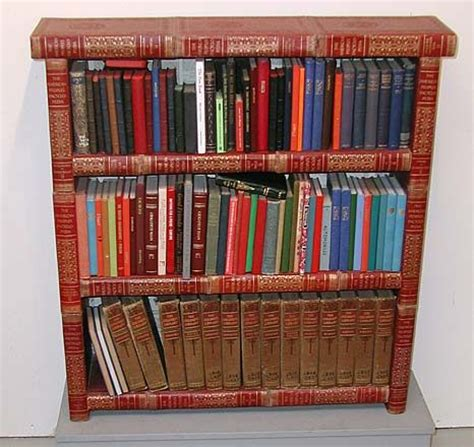 this is my bookshelf made out of books books encyclopedia book shelf what to do with all those old