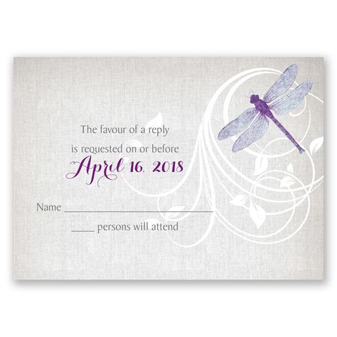 dragonfly designs wedding invitations dragonfly pair response card invitations by