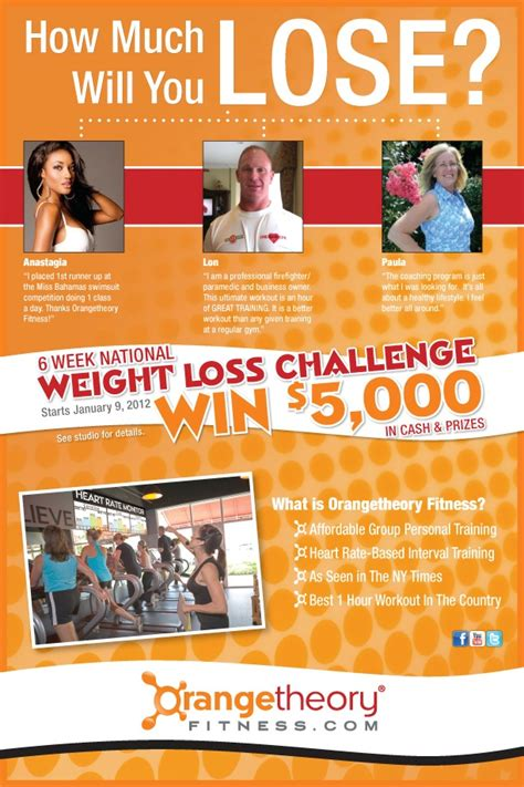 weight loss challenge flyer template orangetheory fitness kicks national weight loss