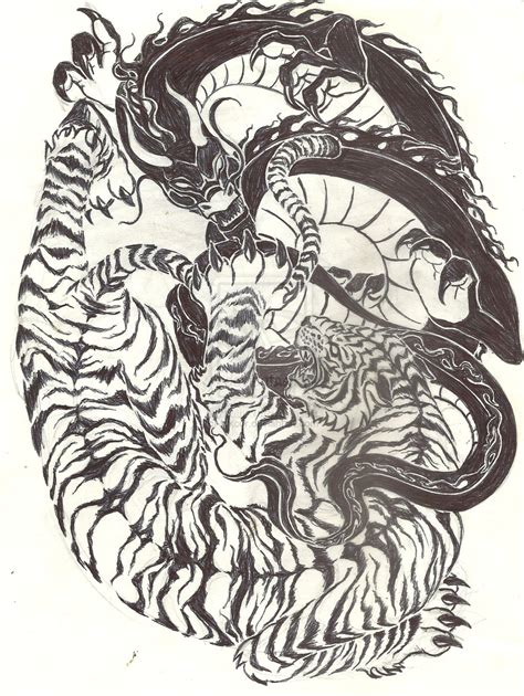 dragon and tiger tattoo tiger vs ideas tigers