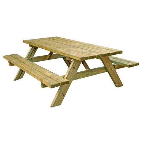 Bench To Picnic Table by Picnic Table With Seat Backs 8 Seater Free