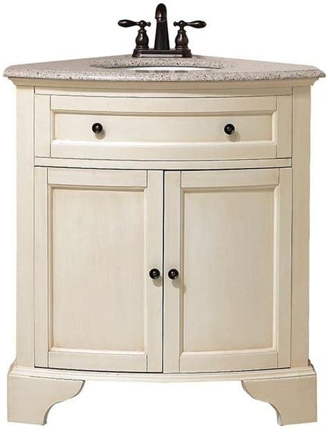 Corner Bathroom Sink Cabinet Vanity by Hamilton Corner Vanity 35 Quot Hx30 Quot W Distressed White