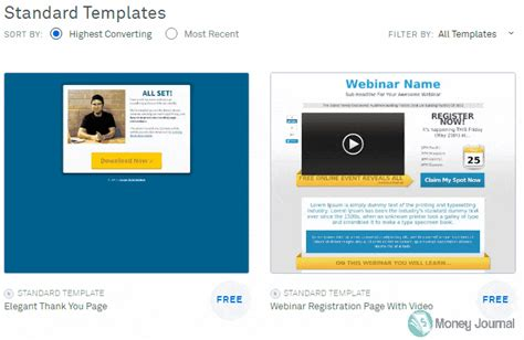 leadpages free templates image collections templates