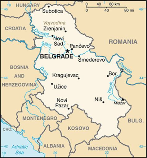 map of serbia serbia maps
