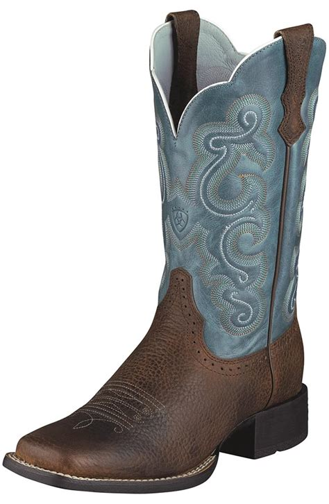 womans cowboy boots ariat s quickdraw performance cowboy boots brown
