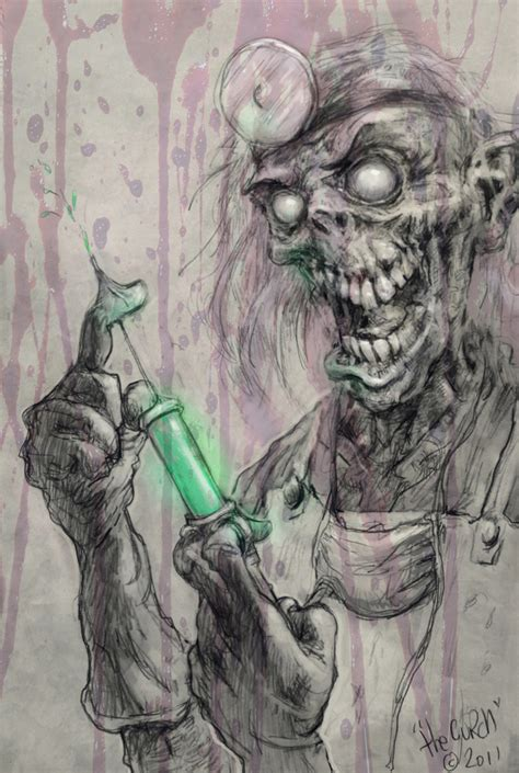 scary skull doctor concept art by thegurch on deviantart