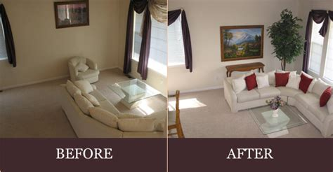 after staging living room before kitchen staging a view our before after photos of staged homes for sale