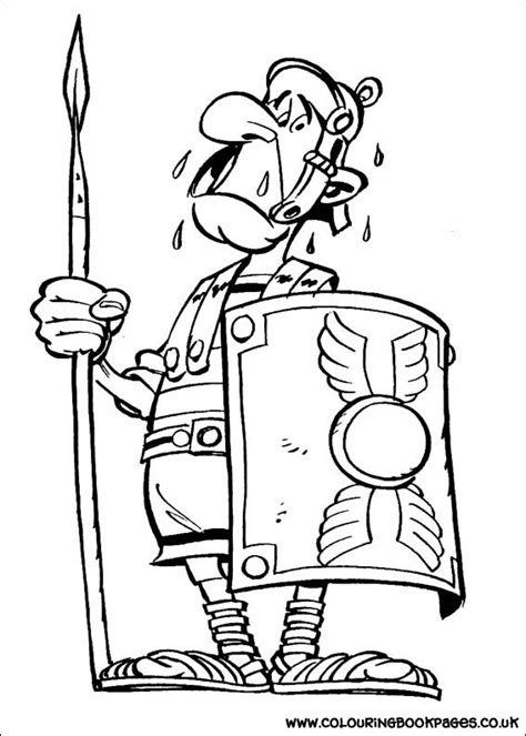 Free Asterix Colouring Pages   Draw Asterix Colouring Book