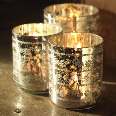 silver tea light lanterns sparkling silver tea light holders curiosity home