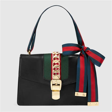 Gucci Bags by Sylvie Leather Shoulder Bag Gucci S Handbags