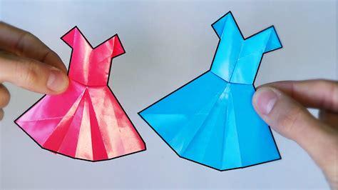 De Origami - c 243 mo hacer un vestido de papel origami