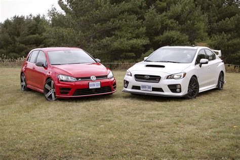 sti subaru 2016 black comparison test 2016 subaru wrx sti vs 2016 volkswagen