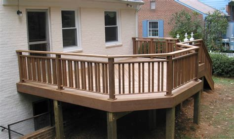 Ideas For Deck Handrail Designs Wooden Terrace Fence Beautiful Addition To Every House