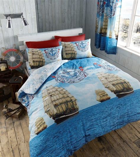 boat bedding luxury sail boat super king duvet quilt cover nautical