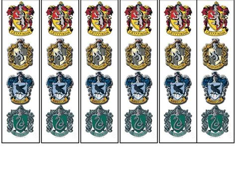 printable hogwarts house crests hogwarts bookmarks if interested in a free printable