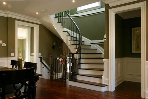 curved staircase  open basement  future home