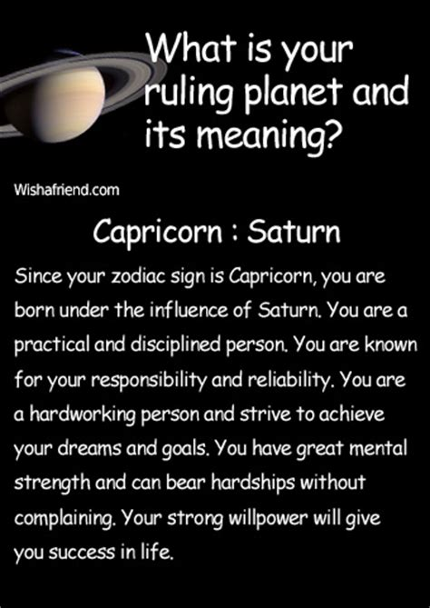 find out your ruling planet and its meaning capricorn saturn